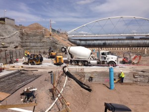 Tempe Town Lake Project using grout